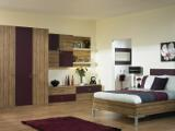 Aubergine and Zebrano Bedroom