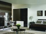 Dark Oak gloss and White modern bedroom